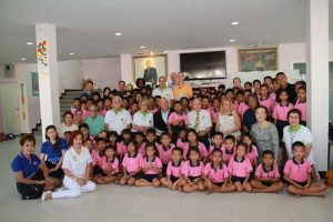 US Rotary visit at the Drop-In/ASEAN Education Center